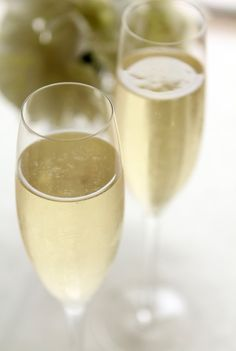 Champagne Ginger Cocktail.