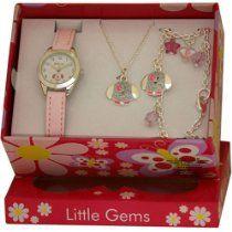 Ravel Little Gems Puppy Dog Watch, Necklace & Bracelet Girls Gift Set R2218  From Ravel  Price:$15.95