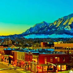 Boulder, Colorado. Restaurants, hiking, sight seeing on Pearl, and so much more!