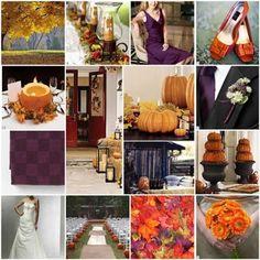 Plum and Burnt Orange :  wedding decoration orange plum Fall2