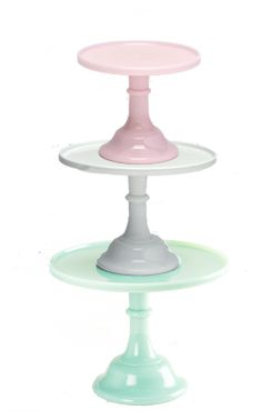 Mosser Milk Glass Cake Stands.  Want.