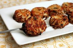 Individual Parmesan Hash Brown Cups. Made in muffin pans. Easy to make and serve.