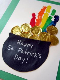 Tiny handprint pot of gold for St. Patrick's Day. Get the DIY. http://www.ivillage.com/fun-st-patricks-day-crafts-kids/6-a-332359#