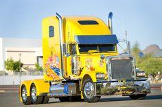 camion, 18 wheel, freightlin classic, big truck, big car, truckin, big rig, freightlin truck, construction