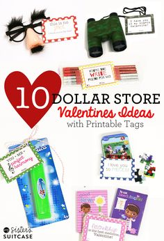 10 Valentine Ideas that won't break the bank! Including ideas for boys, girls, and classroom valentines!
