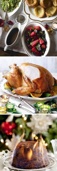 Christmas dinner montage, Christmas dinner recipes.