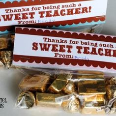 Sweet teacher bag toppers