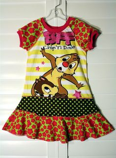 Chip 'n Dale.... recycled upcycled repurposed and pieced dress or tunic