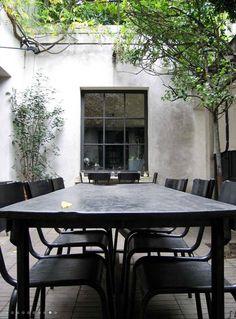 outdoor courtyard space