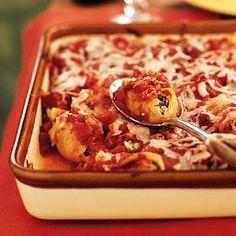 Artichoke, Spinach, and Feta Stuffed Shells | CookingLight.com