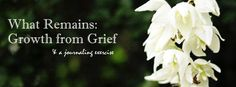 FI - growth from grief. Journaling. Whatsyour grief.com