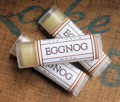 Eggnog lip balm would make a great stocking stuffer.