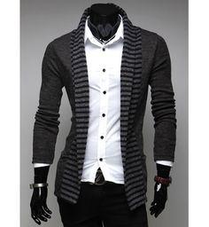 Men's Cardigan with Stripes