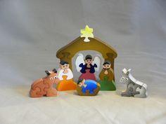 Wooden Nativity set, hand made decorative puzzle