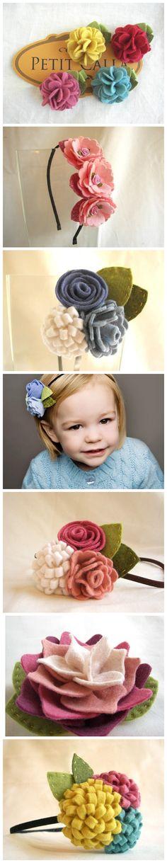 Petit Calla 给小女生设计的头花