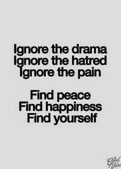 Ignore the hate and find peace.