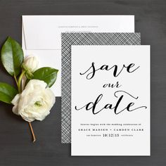 Forever Love Floral Save The Date Cards by Susan Asbill | Elli