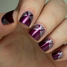 LOVE~LOVE this gorgeous purple & glitter inspired mani!!!! ღ❤ღ
