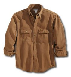 Carhartt - Product - Men's Sandstone Twill Shirt MADE IN USA