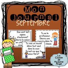 Mon journal:  French Journal writing prompts for the month of September! $