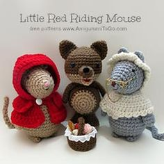 free pattern amigurumi, red riding hood, toy, ride hood