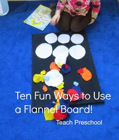 classroom, teaching preschoolers, idea, felt board, educ, activ, ten fun, deborah @ teach preschool, flannel boards