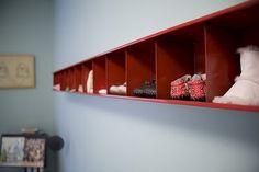 Ikea CD rack for kids shoes.