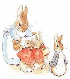 """""""Now my dears,"""" said old Mrs. Rabbit one morning, """"you may go into the fields or down the lane, but don't go into Mr. McGregor's garden""""..."""