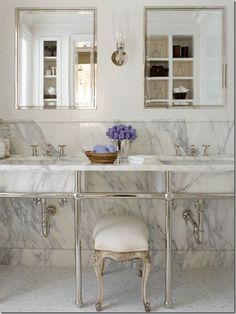 Marble and white bathroom by Phoebe Howard dp01101, mosaics, bathrooms