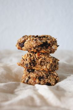 Healthy banana oat cookies.