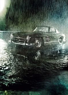 Mercedes Benz  300sl gullwing: I'd take a walk in the rain with this car anyday!!