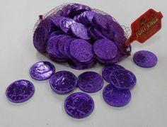 FOIL COINS - MILK CHOCOLATE - PURPLE - PER LB