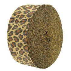 Leopard Crepe Streamer Value Roll