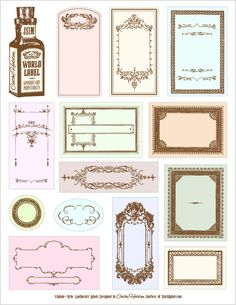 vintage labels and clipart images