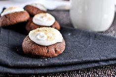 Chocolate Fudge S'mores Thumbprints I How Sweet Eats