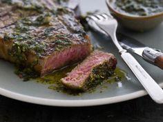 Grilled T-Bone Steaks with Chimichurri