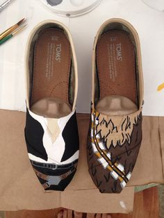 Chewbacca & Han Solo Toms by ChangeYourFate on Etsy