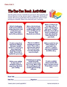 Here are 45 literature response activities arranged in five grids of nine activities each to make a Tic-Tac-Toe format. There is also a list of all 45 activities at the end of the document. These can be used with any chapter book and are great for independent reading. They can also be used in addition to comprehension questions and other classroom work. Just $3.50