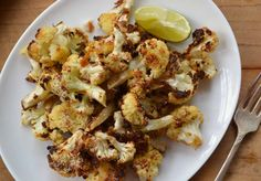 My new favorite vegetable dish -- roasted cauliflower with Parmesan. So delicious!