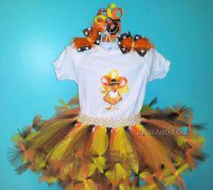 Thanksgiving tutu Turkey Ribbon tutu  First by SewsnBows on Etsy, $48.00