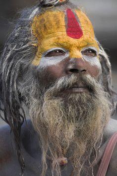 Kathmandu Valley, Nepal   Sadhu (Holy man), Pashupatinath Temple   © Jane Sweeney / Jon Arnold Images