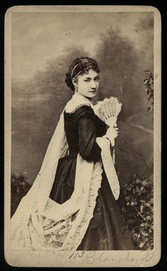 Original 1870s carte de visite of the actress Kitty Blanchard,  as photographed by the renowned Gurney studios, in New  York City.    Kitty's life came to a tragic end when she drowned in her bathtub.    http://www.etsy.com/listing/121933877/rare-original-photo-of-actress-kitty?ref=sr_gallery_41_search_query=kitty+card_view_type=gallery_ship_to=US_page=6_search_type=vintage