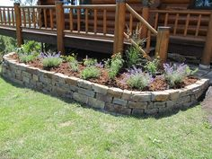 Stone Flower Beds | ... walls, patios, steps, stepping stones & raised flower beds/gardens