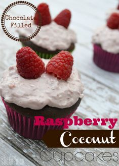 Betty Crocker Hershey Chocolate Filled Raspberry Coconut Cupcakes