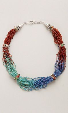 Multi-Strand Necklace with Seed Beads - Fire Mountain Gems and Beads