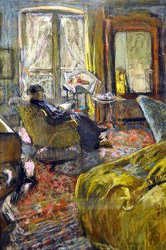 Jean Édouard Vuillard (1868-1940) Woman Reading 1910