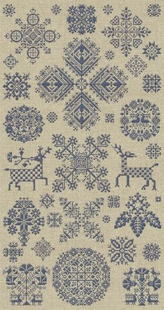 Lovely downloadable cross-stitch design from ModernFolk on etsy