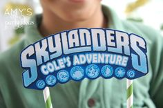 skylanders birthday party ideas cake topper, Skylanders Giants Birthday Party Ideas & Games | @AmysPartyIdeas #SkylandersGiants #party #DIY #Skylander #Birthday #dessert table #supplies