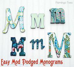Easy Mod Podged Monograms