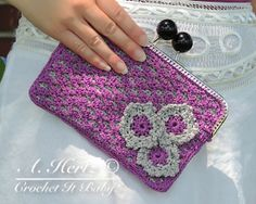 Crochet Pretty Picot Purse  PATTERN ONLY by CrochetItBaby on Etsy, $5.00